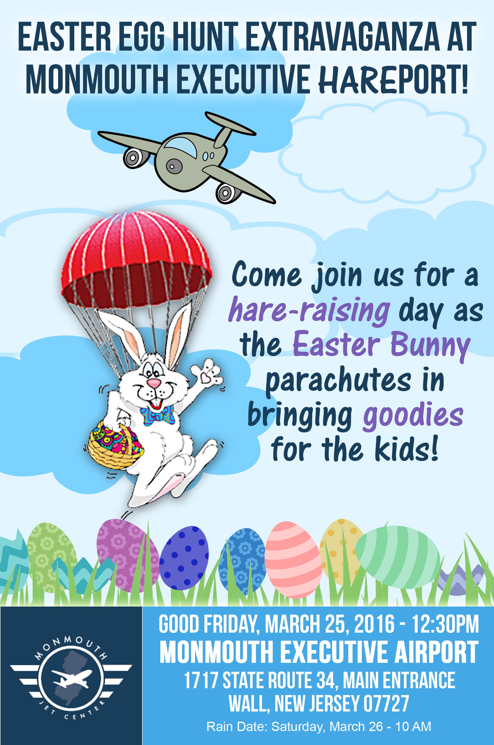 Easter Bunny AT Monmouth Airport